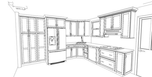 Corner Sink With Cabinet Above