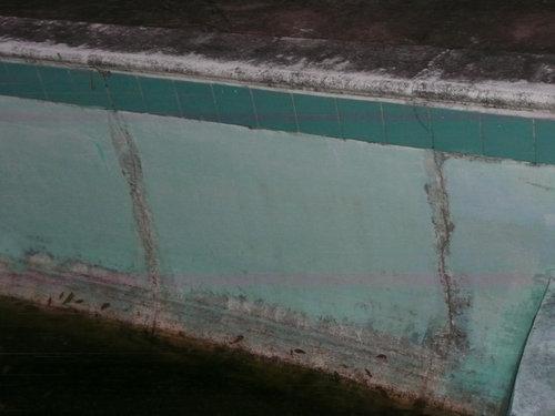 how to repair cracks in inground pool