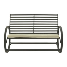 Brimfield U0026 May   Winslow Outdoor Rocking Bench   Outdoor Rocking Chairs