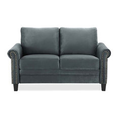 Lifestyle Solutions Fallon Loveseat in Gray