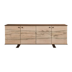 Entre Buffet Hueso With Abstract Metal Finish