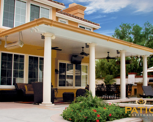 Elitewood Solid Top Patio Covers   Patio Warehouse Inc.