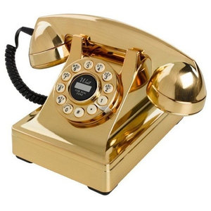Wild & Wolf Series 302 Telephone, Gold