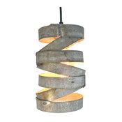 "Vitali, ""Tala"", Wine Barrel Ring Staggered Pendant Light"