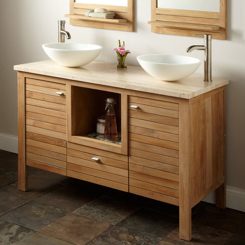 48  PAYSON TEAK DOUBLE VANITY   Bathroom Vanities And Sink Consoles. Teak Vanities