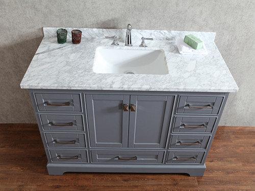 Gray bathroom vanities - 48 inch double sink bathroom vanity ...