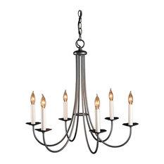 Hubbardton forge chandeliers houzz hubbardton forge hubbardton forge 101160 6 light simple lines chandelier chandeliers aloadofball Choice Image