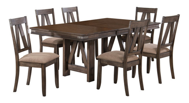 Theodore 7-Piece Dining Table Set - Transitional - Dining Sets - by ...
