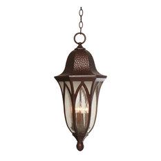 """Berkshire 11"""" Hanging Lantern, Burnished Antique Copper"""