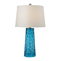 Most popular blue glass table lamps for 2018 houzz dimond lighting 27 hammered glass table lamp blue table lamps aloadofball Choice Image
