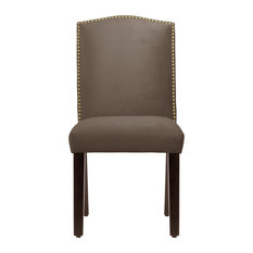 Powell Nail Button Camel Back Dining Chair Mystere Brown