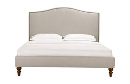 Fleurie Upholstered Bed With Nailhead Trim, King