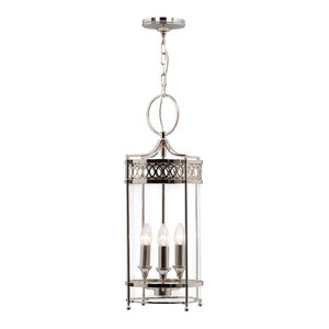 Guildhall Pendant Lamp, Polished Nickel