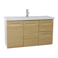 "38"" Bathroom Vanity Set, Natural Oak"