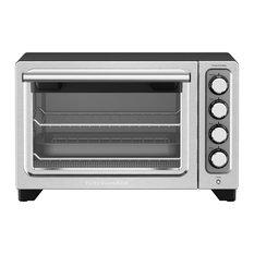 Compact Countertop Oven With Nonstick Interior, Black