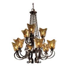 Vetraio 9-Light Bronze Chandelier