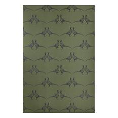 Barneby Gates - Pheasant Wallpaper, Camo Green - Wallpaper