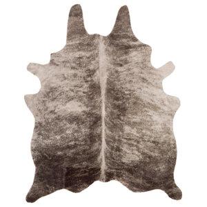 "Rusak Animal Light Gray, Camel Area Rug, 5'x6'6"""