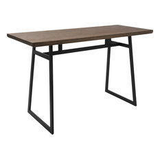 Geo Counter Table, Black, Brown