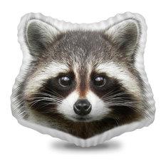 Raccoon Decorative Accent Throw Pillow