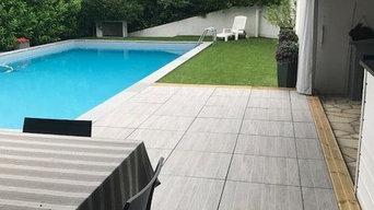 Dalles sur plots pour contours piscine