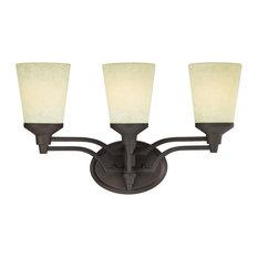 "Westinghouse 6302200 Malvern 20""W 3 Light Bathroom Vanity Light - Bronze"