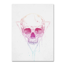 Balazs Solti 'Skull In Triangle' Canvas Art, 14x19