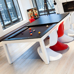 Fusiontables Has Designed The Sleekest Dining Pool Table Ever And The Whole  Family Love To Have A Game In The Dining Room After The Dinner.