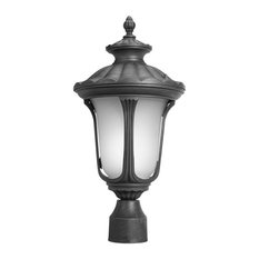Woodbridge Lighting Westbrook Energy Saving Post Mount Light, Powder Coat Black