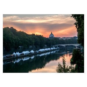 """Pixtury """"Roma, Lungotevere D'Estate"""" Photo Print, Canvas, 30x40 cm"""