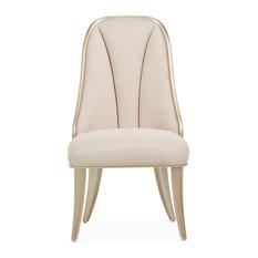 AICO Michael Amini Villa Cherie Side Chair, Set of 2 Pearl