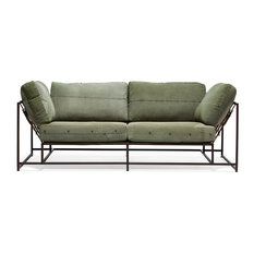 Industrial sofas couches houzz for Couch industrial