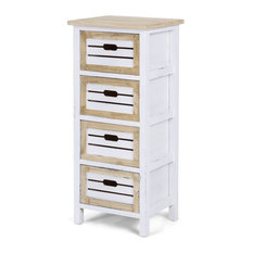 4 Drawers Wooden Chest Side End Cabinet Nightstand
