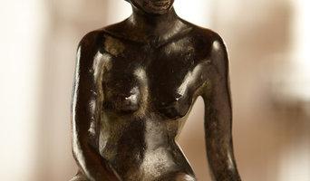 Sculptures de bronze de pierre et d'or