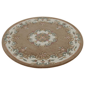 Mahal Round Rug, Beige, 120 cm Round