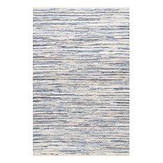"Faded Denim Stripes Area Rug, Blue, 7'6""x9'6"""