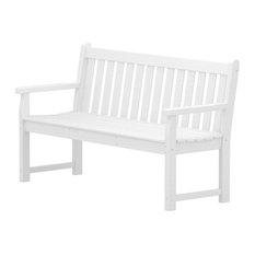 "Polywood Traditional Garden 60"" Bench, White"