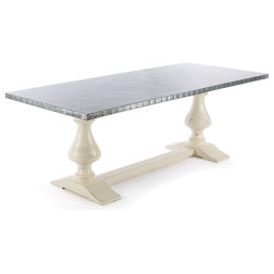 Luxury Farmhouse Dining Tables Middleton Zinc Top Dining Table