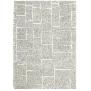 Logan Rectangular Rug, Grey, 200x290 cm