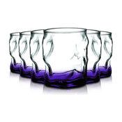 Bormioli Rocco Sorgente Double Glasses, Set of 6 Bottom, Purple