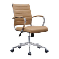 lexmod ribbed mid office. 2xhome executive ergonomic cushion seat office chair ribbed tan mid back lexmod
