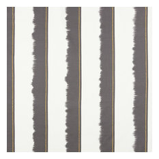 Striped Cotton Upholstery Fabric, Anthracite and Light Grey