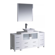 "Fresca Torino 60"" White Bathroom Vanity"