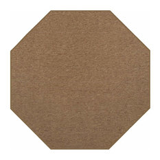 Indoor Outdoor Carpet, Brown, 8' Octagon