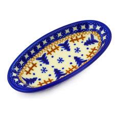"Polmedia Polish Pottery 6"" Stoneware Condiment Dish"