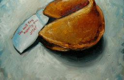 Fortune Cookie Custom Oil Painting by Roz