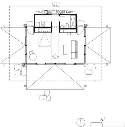 Floor Plan HT: Apollo Design Studio_False Bay Writers Cabin