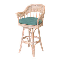 "Bridgeport 24"" Swivel Barstool In Rustic Driftwood With Dum Dum Spa"