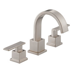 Delta Faucet Vero 2 Handle Widespread Lavatory Stainless Steel Bathroom