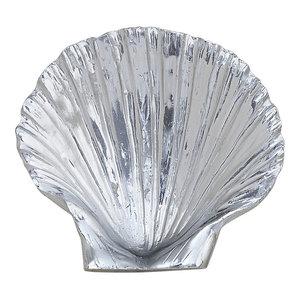 Metallic Scallop Shells, Set of 3, Silver